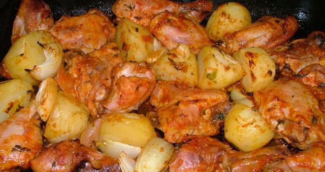 Frango com Batatas no Forno