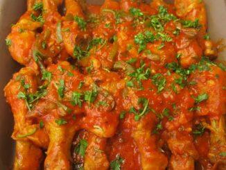 Pernas de Frango com tomate