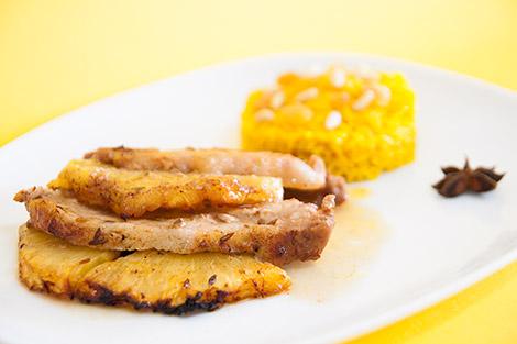 Lombo de Porco no Forno com Ananás e Especiarias