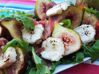 Salada de Figos com Presunto e Queijo de Cabra