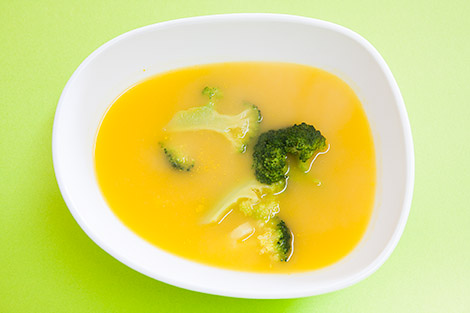 Sopa de Cenoura com Bróculos