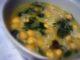 Sopa de grão com espinafres à Alentejana
